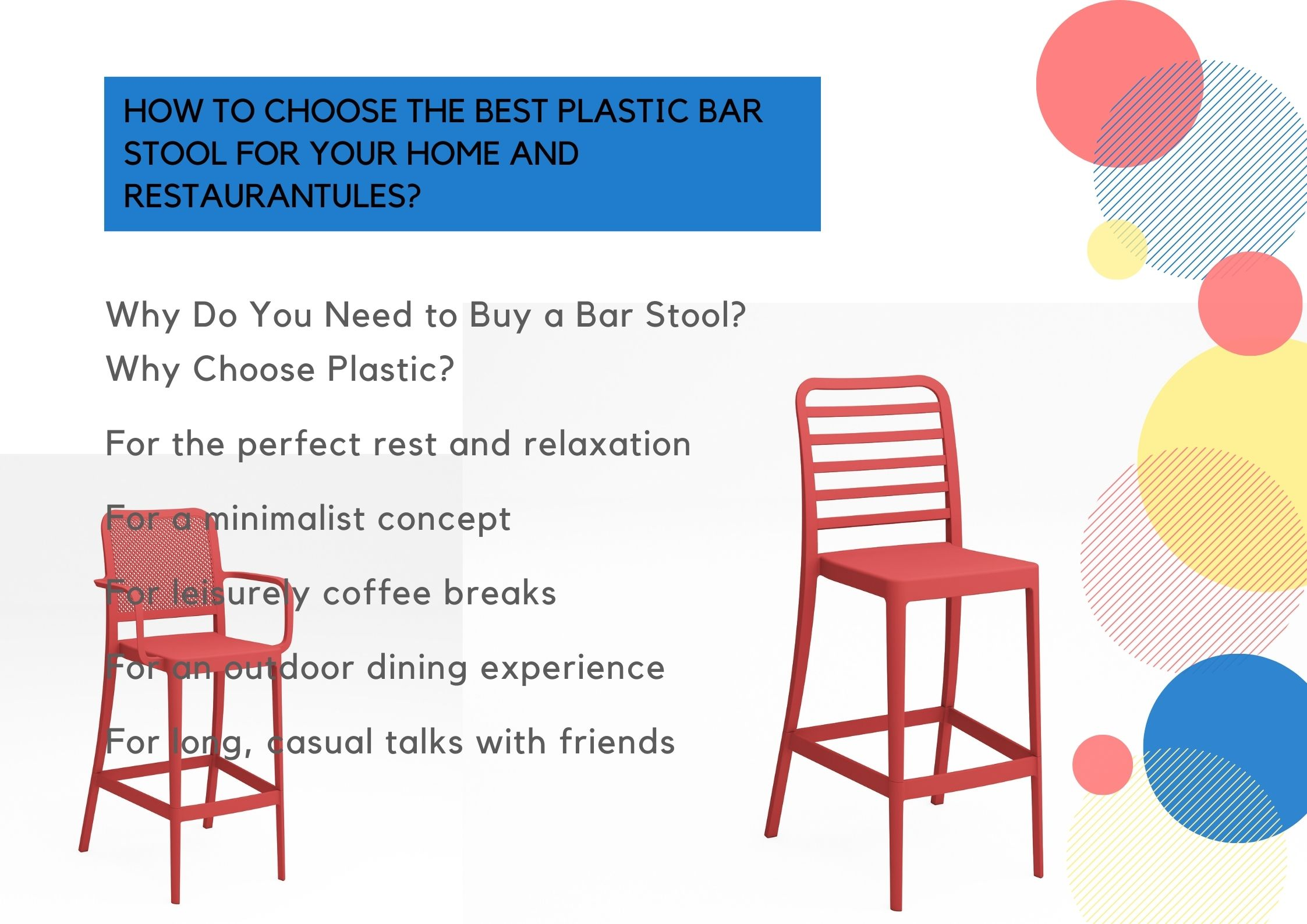How to Choose the Best Plastic Bar Stool for Your Home and Restaurantules