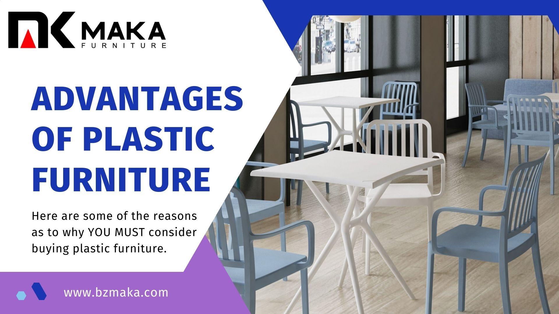 Advantages of Plastic Furniture